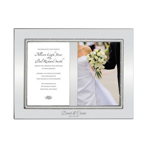 Personalized Devotion Double Silver Invitation and Picture Frame