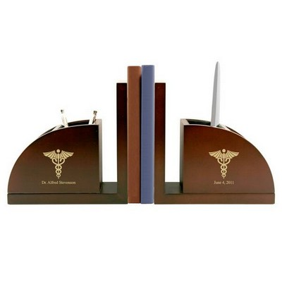 Personalized Doctors Book Ends and Organizer