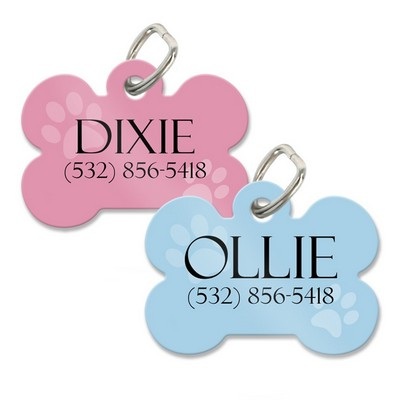 Personalized Dog Bone Pet Collar Tag