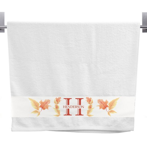 Personalized Fall Design Hand Towel