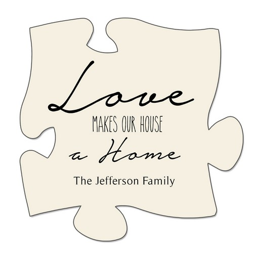 Personalized Family Puzzle Wall Plaque