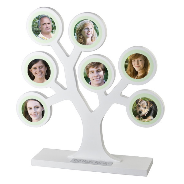 Wallverbs Family Tree Personalized Picture Frame Set: Personalized Family Tree Picture Frame