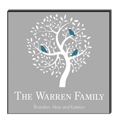 Personalized Family Tree Wall Art Panel