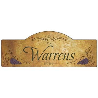 Personalized Family Vineyard Sign