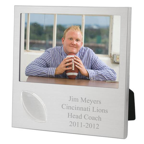 Football photo frame personalized football photo frame negle Image collections
