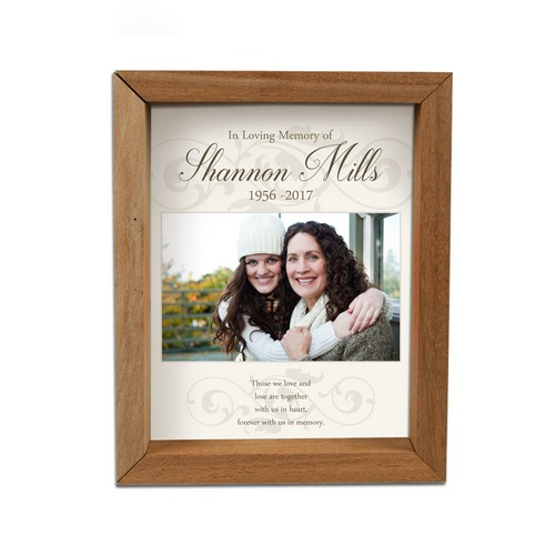 Personalized Framed Memorial Photo Shadow Box