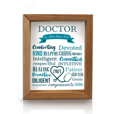 Admirable Personalized Framed Shadow Box for Doctors