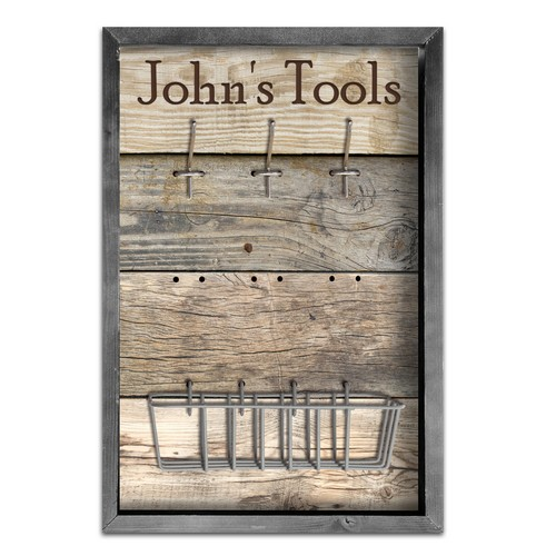 Personalized Framed Tools and Accessory Board