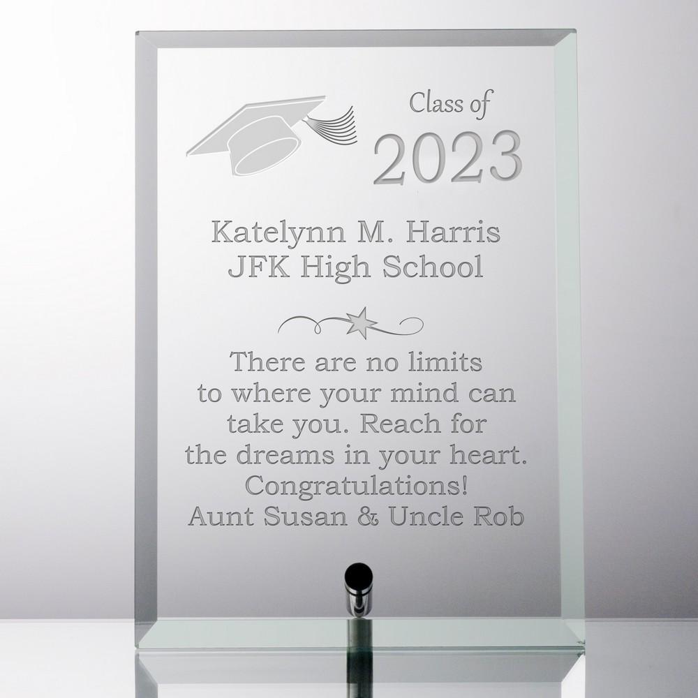 Personalized Glass Graduation Plaque
