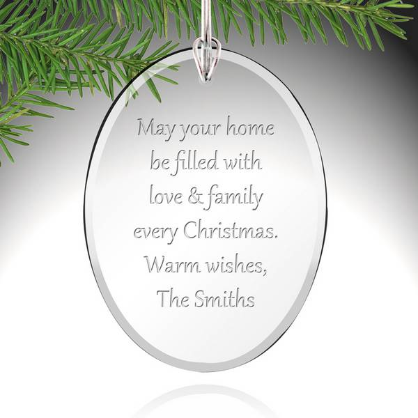 Personalized Crystal Christmas Tree Christmas Ornament Custom Gift