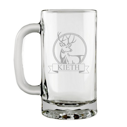 Personalized Glass Stag Stein