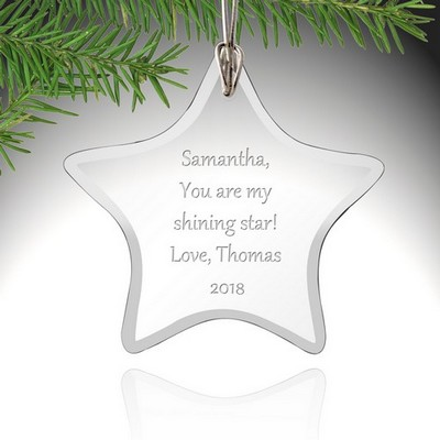 Personalized Glass Star Ornament