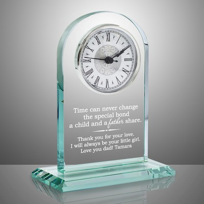 Personalized Glass Timeless Keepsake Clock