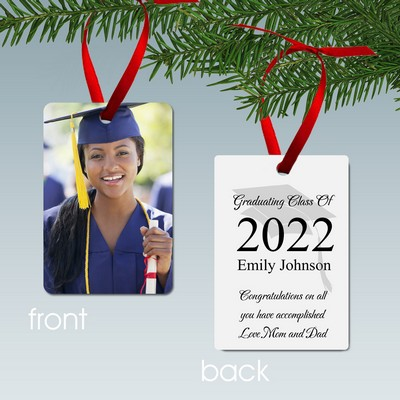Personalized Graduating Class Aluminum Photo Ornament
