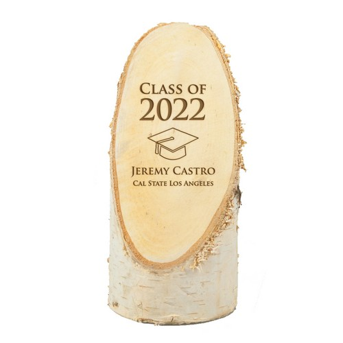 Personalized Graduation Natural Birch Wood Plaque