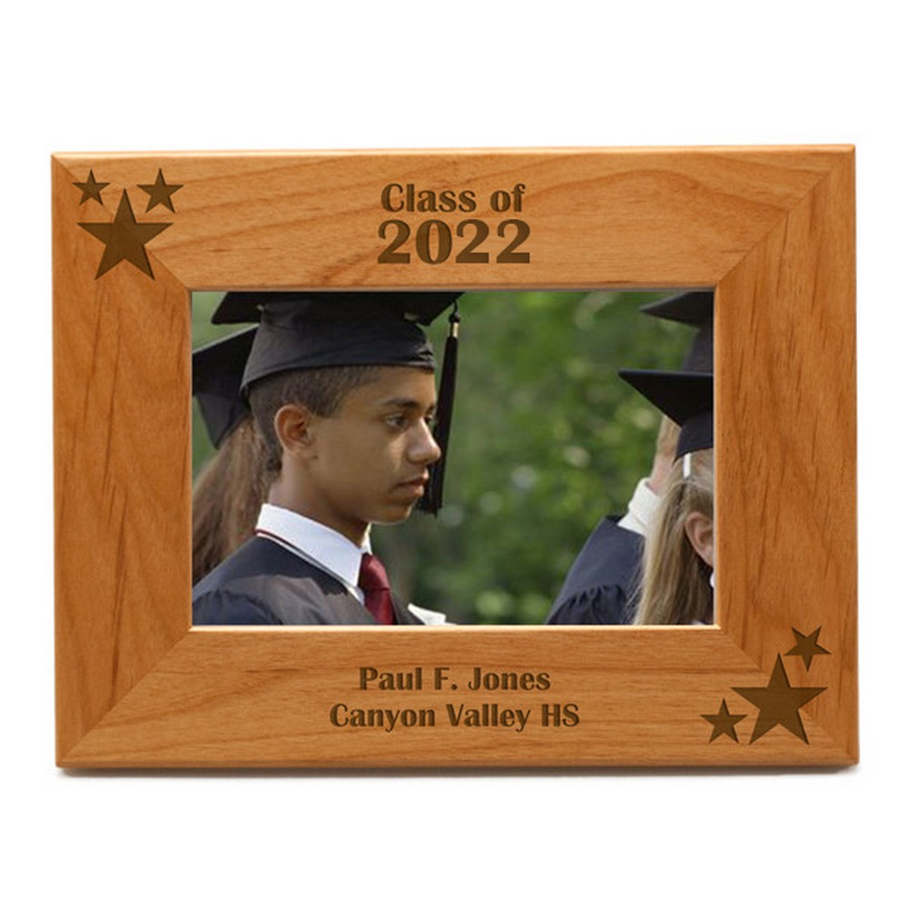 Personalized Graduation 3x3 Wood Photo Frame | Engraved Graduation ...