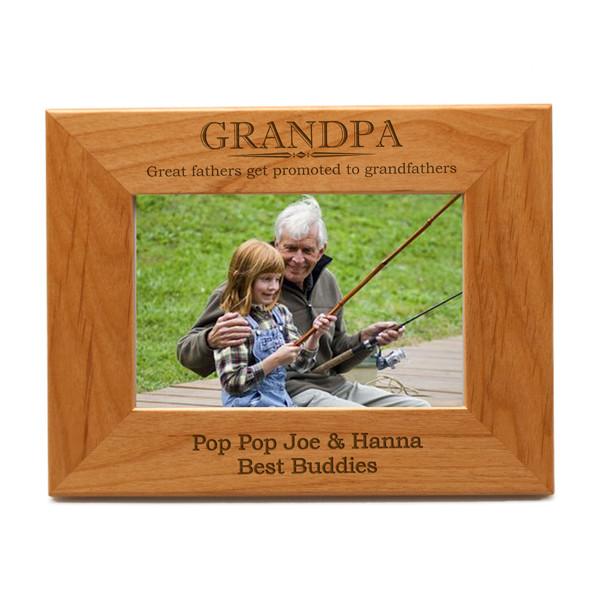 Personalized Grandpa 3x3 Photo Frame | Engraved Picture Frame for ...