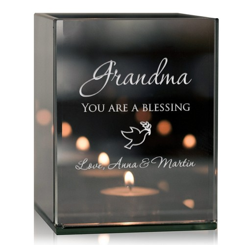 Personalized Grandma's Blessings Tealight Candle Holder