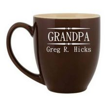Personalized Grandpa Ceramic Coffee Mug