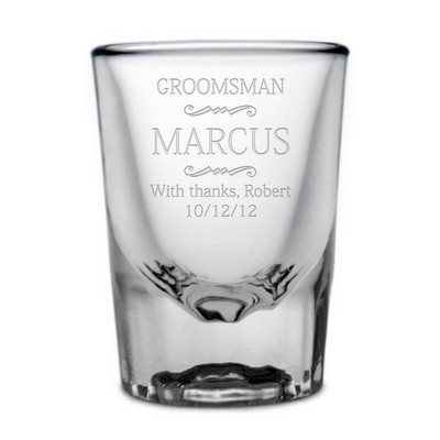 Personalized Groomsmen Shot Glass