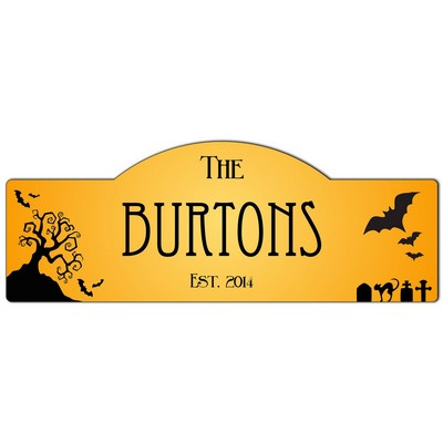 Personalized Halloween Family Name Sign