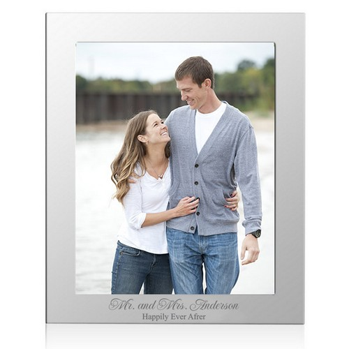 Personalized Happily Ever After 8X10 Silver Photo Frame