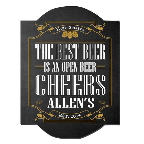Personalized High Spirits Pub Sign