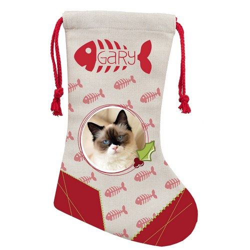 Personalized Holiday Photo Stocking For Cats