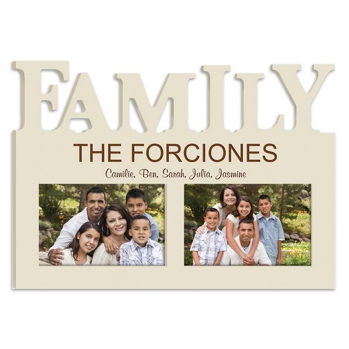 Personalized Ivory Family 4x6 Picture Frame