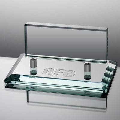 Personalized Jade Glass Business Card Holder