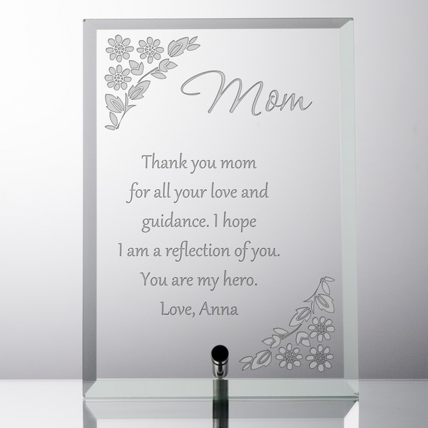 Personalised Engraved Gift Box Thank You Mum Dad Teacher Bridesmaid Love You