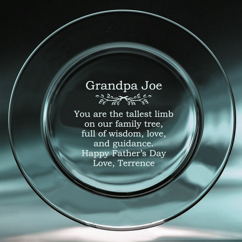 Personalized Keepsake Plate for Grandpa