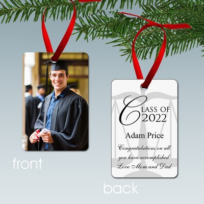 Personalized Law School Graduate Aluminum Photo Ornament