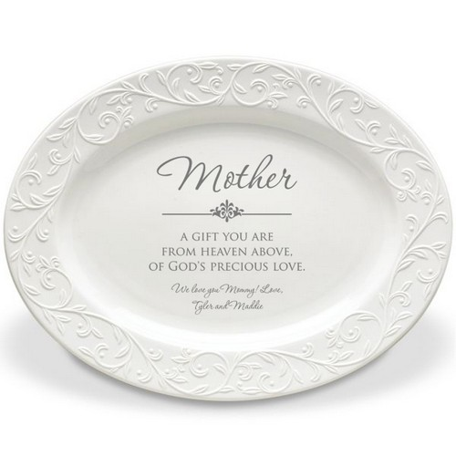 Mother Elegant Personalized Lenox Oval Platter