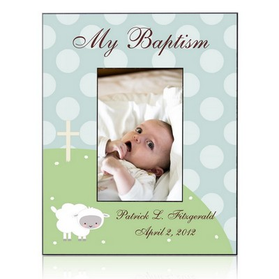 Personalized Little Lamb Baptism Frame