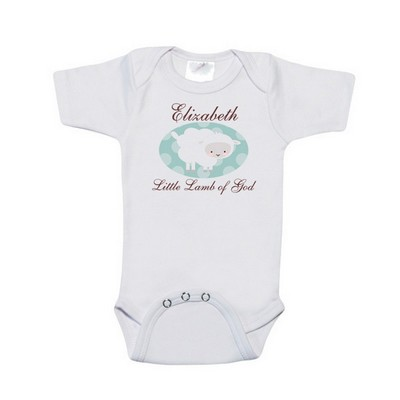 Personalized Little Lamb of God Baby Bodysuit