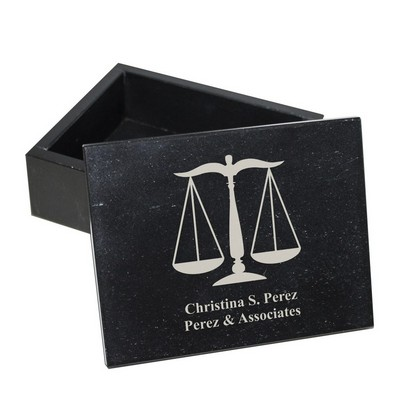 Personalized Marble Jewelry Box for Lawyers