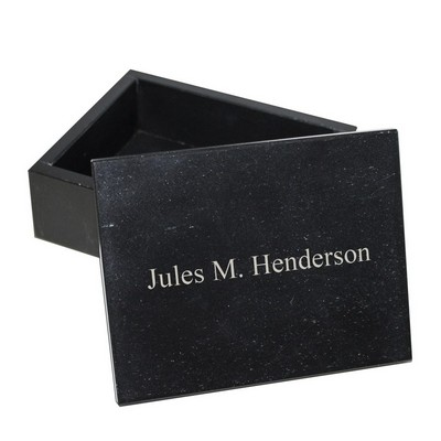 Personalized Marble Jewelry Box