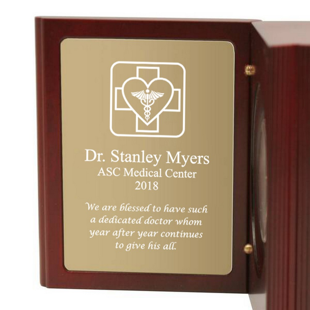 Personalized desk clocks engraved clocks personalized medical book clock for doctors jeuxipadfo Images