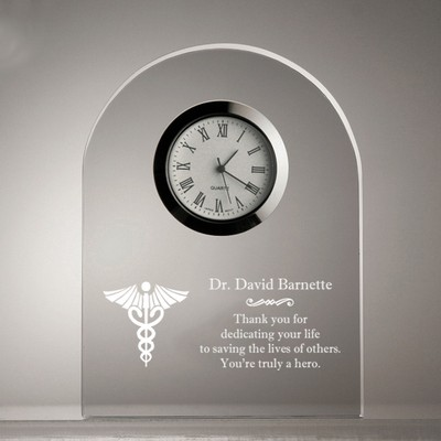 Personalized Medical Distinctive Clear Acrylic Dome Clock