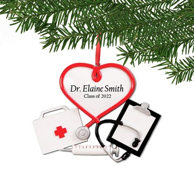 Personalized Medical Graduation Holiday Ornament
