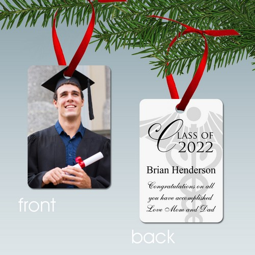 Personalized Medical School New Doctor Graduate Photo Ornament