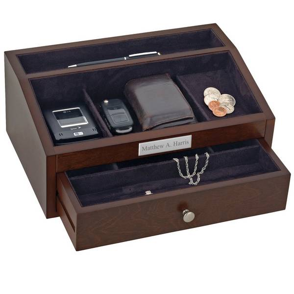 Very best Personalized Mens Jewelry Chest with Drawer VB67