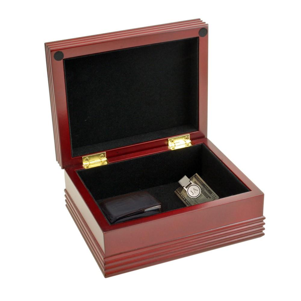 Personalized Men's Small Jewelry Box