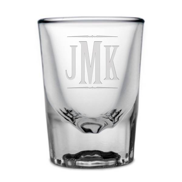 personalized monogrammed shot glass engraved monogram shotglass