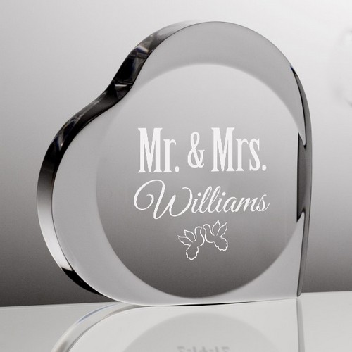 Personalized Mr & Mrs Acrylic Keepsake Heart