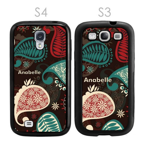 Personalized Paisley Galaxy S3-S4 Case