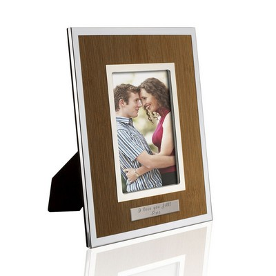 Personalized Palmer 4x6 Silver Bamboo Frame