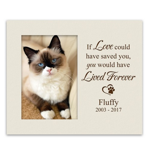 Personalized Pet Memorial Ivory 4x6 Photo Frame