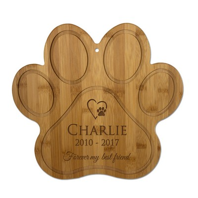 Personalized Paw Bamboo Pet Memorial Wall Plaque